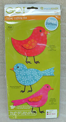 Accuquilt GO! Birds Fabric Cutting Die FREE Pattern Included! ~ NEW!