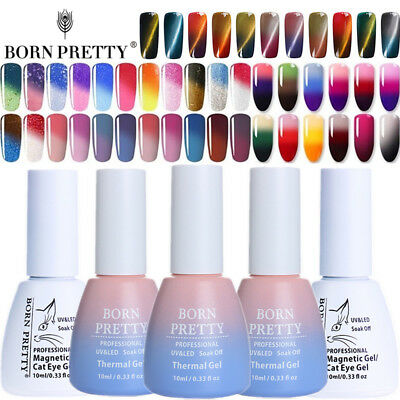 BORN PRETTY 10ml Thermal Nail Art UV Gel Polish Color Changing Magnetic Soak off