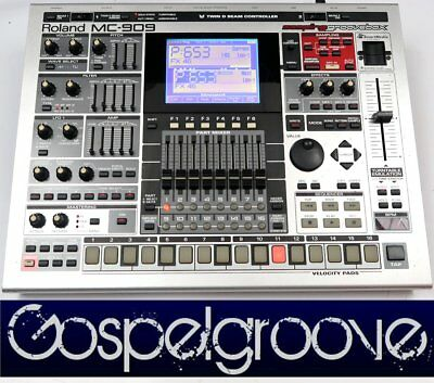 ROLAND MC-909 Sampling Groovebox V1.23 + 128MB RAM + 128 MB SM-Card + GEWÄHR