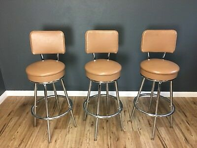 vintage set 3 crome bar stools from 1960s - 1970s - £525.00 1970s Bar Stools