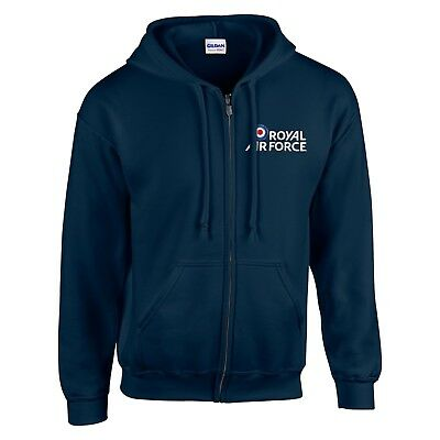 Royal Air Force Logo Zoodie - RAF Military Air Display Zipped Embroidered Hoodie