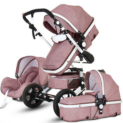 High end Baby Trolley 3 in 1 High Landscape Stroller Foldable Baby Car Car Seat