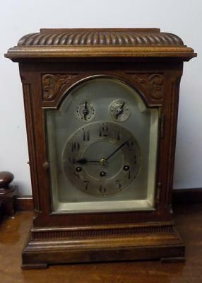 oak cased westminster chimes bracket clock