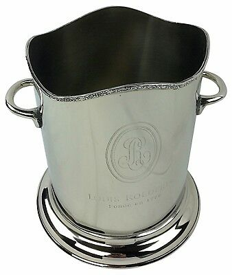 Champagne Wine Ice Bucket Cooler Chiller Two Handles Nickel Plated Single Bottle