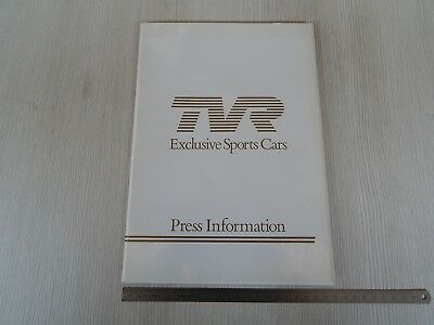 RARE: ONLY PRESS INFORMATION TVR 280 i 390 i 350 i BROCHURE DEPLIANT