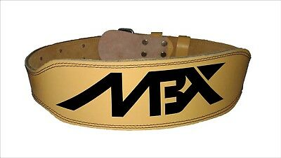 """MBX 4"""" Weight Lifting Leather Belt.  Brand new with foam padded back support"""
