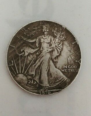 Liberty Walking 1816 Silver One Dollar Münze Fine Silver Silber Usa