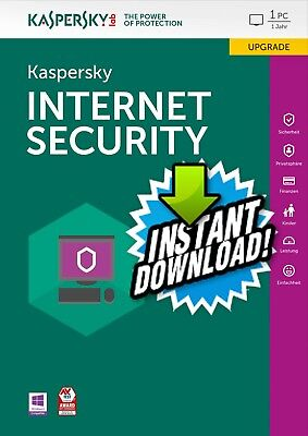 Kaspersky Internet Security 2018 1Pc 1 Year Global The Best Antivirus Instant!