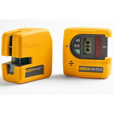 Fluke 180LR SYSTEM Red 2-Pt Laser Level, Green Laser Line Detector