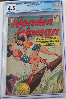 WONDER WOMAN #98 1958 CGC 4.5 CR-OW 1st Silver Age by Ross Andru / Mike Esposito