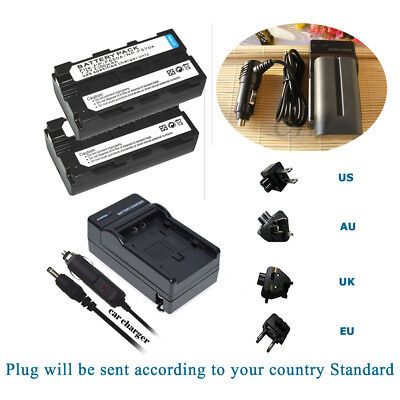 TWO BATTERIES + Charger Pack for Neewer CN-160 LED Video Light Sony NP-F550