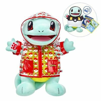 BNIB Build a Bear Pokemon SQUIRTLE , outfits, card, sound & BAB ...