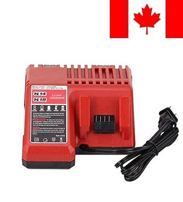 Replace M18 Battery Charger for Milwaukee 14.4v - 18v Combo Lithium-ion Charg...