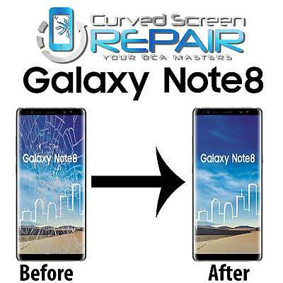 Samsung Galaxy Note 8 Cracked Screen Repair Glass Mail In Service