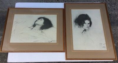Gustav Klimt 1897 Pair Of Framed Prints