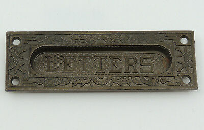 "Antique Metal Letter Slot by Reading Hardware Co Windsor Small 6""x 2"" Hinged"
