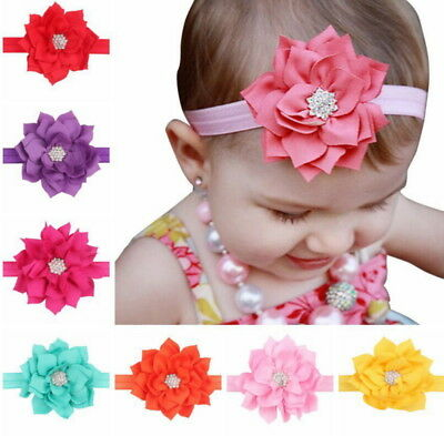 Sparkling Hair Bow Baby Headbands Elastic for Infant Birthday Cute Usable Baby Accessories