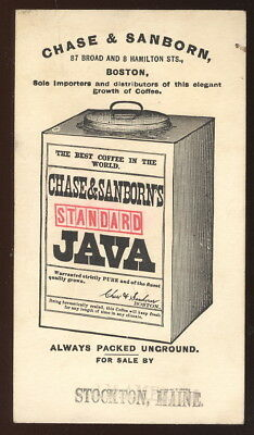 1890S Trade Card Advertising Chase & Sanborn Standard Java Coffee