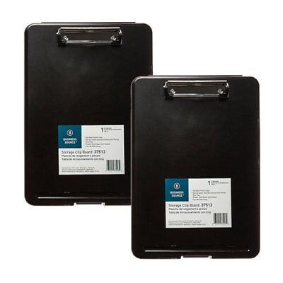 Business Source Plastic Storage Clipboard - Black - Letter-Size (37513) NO TAX