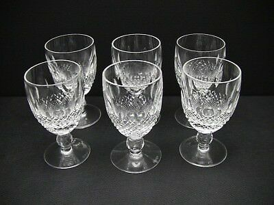 "Waterford Crystal COLLEEN Short Stem Claret Wine 4 3/4"" / Set of 6"