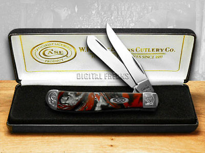 CASE XX Engraved Bolster Series Genuine Man In Black Corelon Mini Trapper Knife