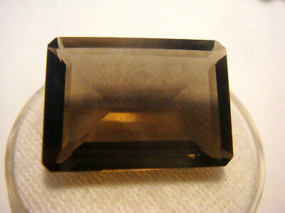 Smoky Quartz Rectangular Emerald cut Gemstone 18.5mm x 13mm 13 carat Natural Gem