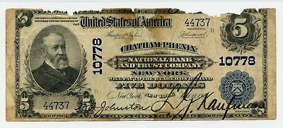 Charter 10778 1902 $5 National Bank Note New York