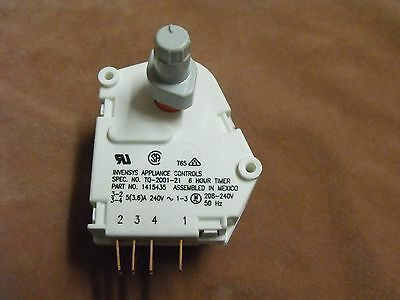 1407843: Westinghouse Freezer Defrost Timer With Cam 6hrs.x21mins.GENUINE