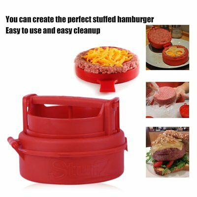 Stuffed Burger Press Hamburger Grill BBQ Patty Maker Juicy Cooking Tool AU RU