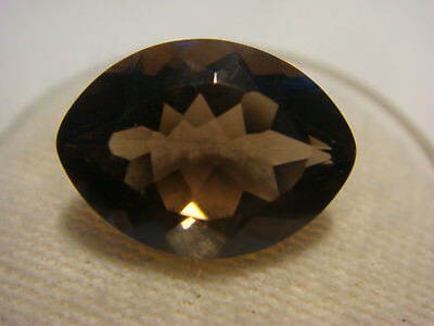 Smoky Quartz Oval cut Gemstone 14 mm x 10 mm 4.5 carat Natural Gem