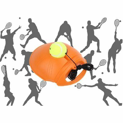 Tennis Ball Singles Training Practice Balls Back Base Trainer+Tennis Tools CU
