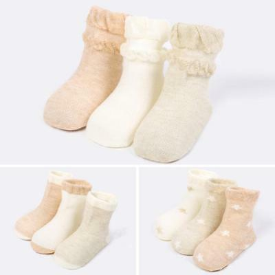 3 Pairs Baby Boy Girl Casual Socks Summer Newborn Breathable Cotton Short Socks