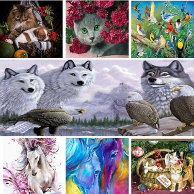 DIY 5D Diamond Painting Animals Embroidery Cross Craft Stitch Home Decor Art CU