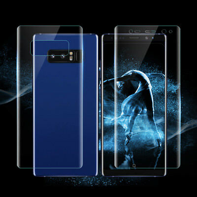 Front + Back Clear PET Film Screen Protector Cover For Samsung S9 Plus Note8 BY1