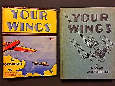 YOUR WINGS by Assen Jordanoff 1942 Rev. Edition The Standard Book On Flying WWII