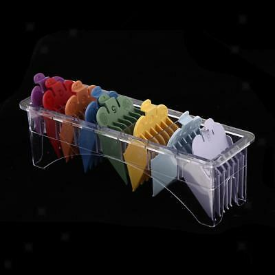 8 Sizes Universal Electric Clipper Guard Guides Comb Attachments + Rack