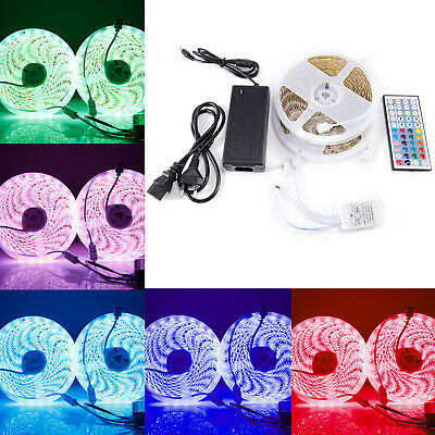 Kit de Ruban à LED 10m(2*5m) / 72W 600 LEDs multicolores 5050 RGB SMD Etanche