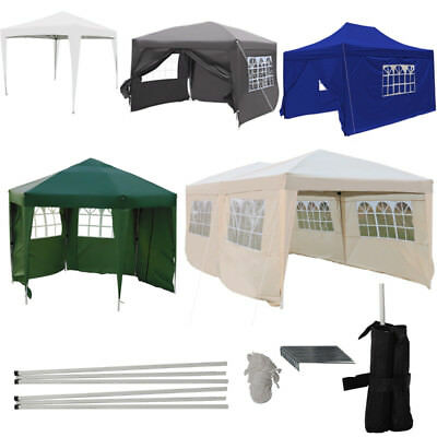 Heavy Duty Outdoor Garden Pop Up Gazebo Marquee Wedding Party Tent With Sides UK