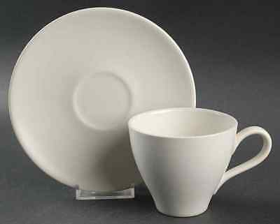 Edwin Knowles ANTIQUE WHITE Cup & Saucer 1341401