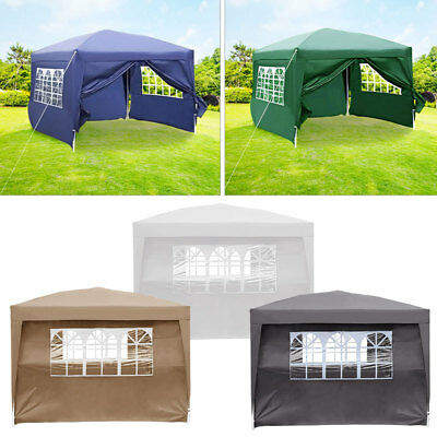 3x3m Waterproof Garden Patio Pop Up Gazebo Marquee Party BBQ Canopy Awning Tent & 3X3M WATERPROOF GARDEN Patio Pop Up Gazebo Marquee Party BBQ Canopy ...