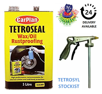 Carplan Waxoyl  Rustproof Protector Clear 5L & waxoil AIRGun applicator