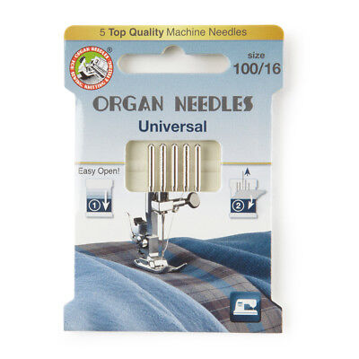 Organ Universal Domestic Sewing Machine Needles size 100 (130R-100-ECO5OR)