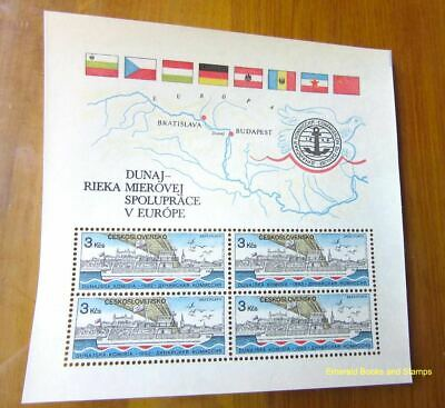 EBS Czechoslovakia 1982 Danube River of Peaceful Cooperation Block 51 MNH**