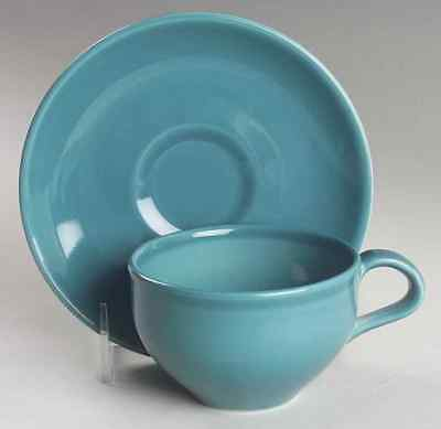 Iroquois CASUAL TURQUOISE Cup & Saucer 6302279