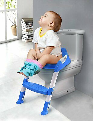 Toilet Potty Seat Training WC Baby Toddler Child Bathroom Adjustable Step Stool
