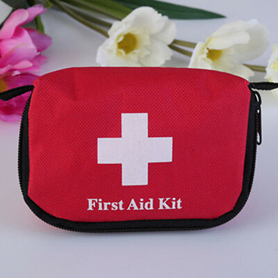 Medical First Aid Survival Kit Bag Outdoor Camping Travel Emergency Red new