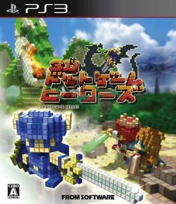 USED PS3 3D Dot Game Heroes game soft