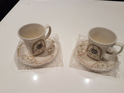 Brand new Decorated tea set (cup saucer and plate) 4pcs