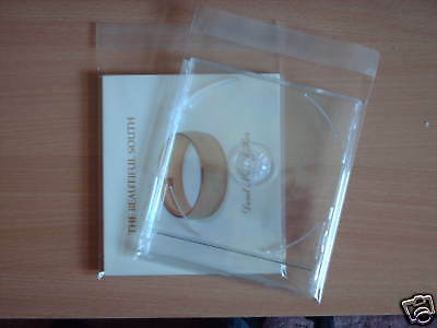 100 CD maxi/digipack RESEAL SLEEVES (WRAPS) 35 Micron POLYPROPYLENE