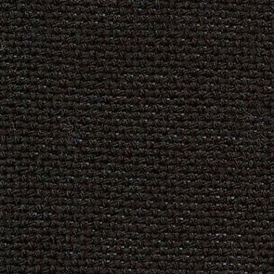 14 Count DMC Aida Cross Stitch Fabric Col. 310 Black - fat quarter 49 x 54cms